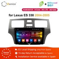 Ownice K1 K2 K3 K5 K6 Octo Core Android 9,0 2Din автомобильный Радио DVD мультимедийный плеер gps навигация для Lexus ES 330 MCV31 2004 2005
