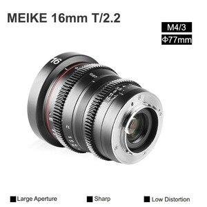 Image 5 - Meike MK 16 مللي متر T2.2 دليل التركيز شبه الكروي صورة Cine عدسة ل مايكرو أربعة ثلثي (MFT ، M4/3) جبل أوليمبوس باناسونيك