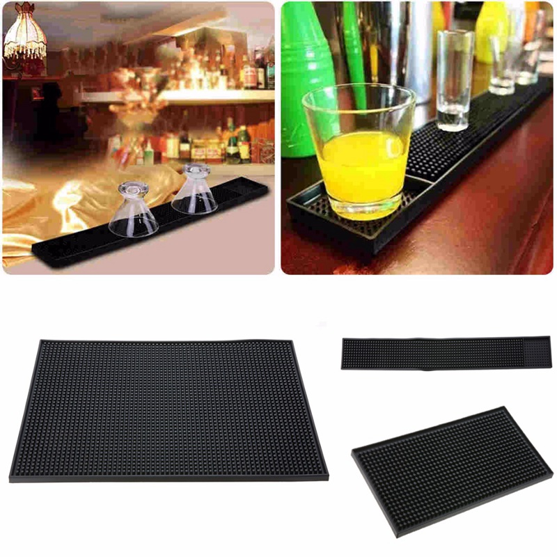 Mayitr Rubber Service Bar Beer Whiskey Mat Heavy Duty Home Bar And Rubber Spill Mat Cocktail Bartender Tea Cup Mug Set