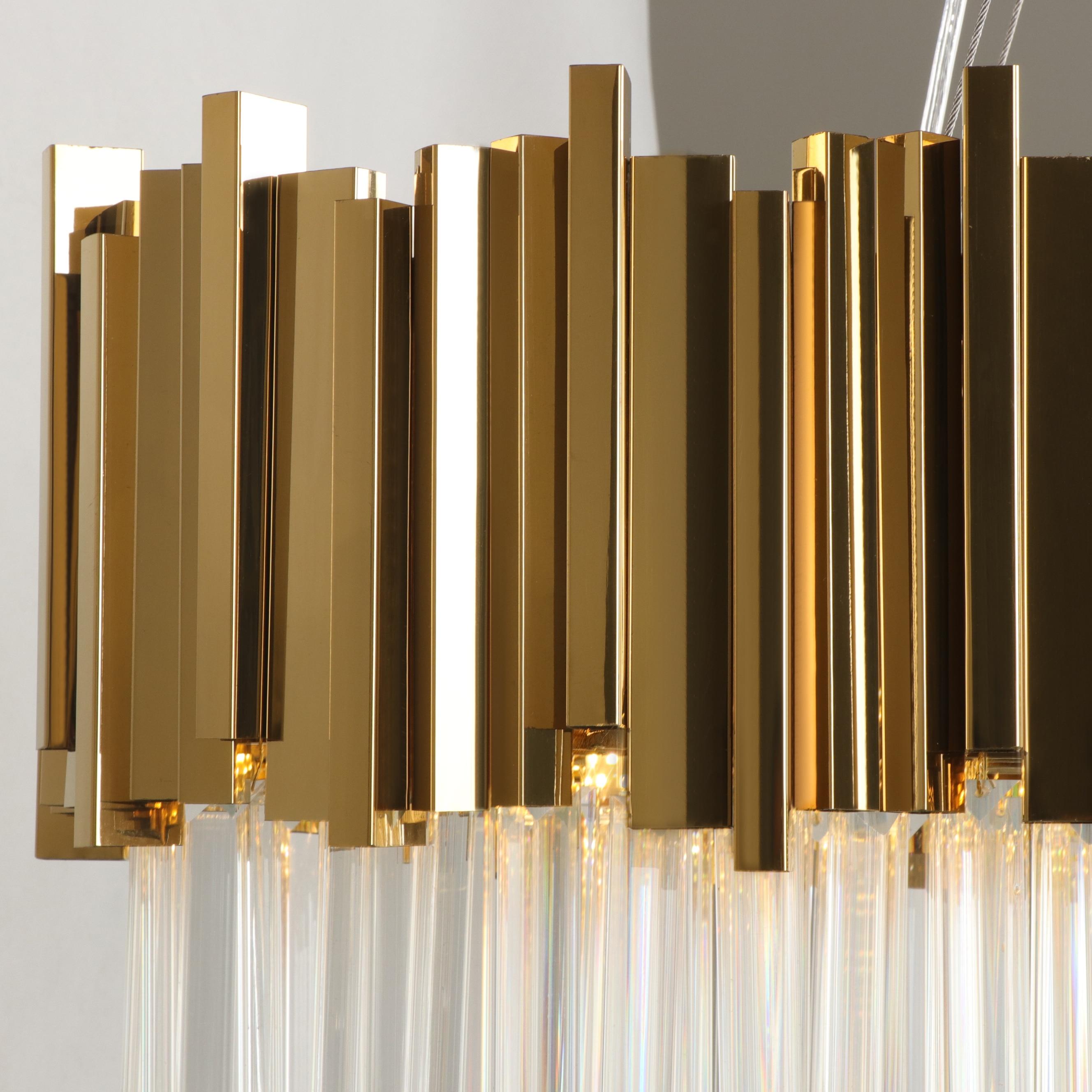 Image 5 - Youlaike Dining Room Modern Crystal Chandelier Luxury Oval Hanging Light Fixtures Dining Room Suspension LED Lustres De Cristal-in Chandeliers from Lights & Lighting