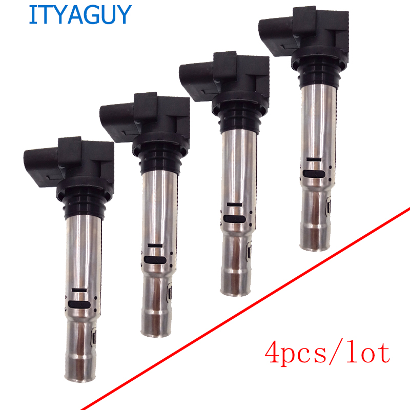 4pcs OEM 036905715F Automobile ignition coil For VW Jetta Golf Polo Beetle Eos Caddy Tiguan Passat