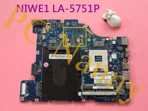 ФОТО Original NIWE1 LA-5751P laptop Motherboard for Lenovo G460 Non-integrated Hm55 DDR3 Full Tested With HDMI