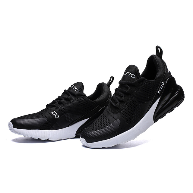 Heidsy 2019 New Fashion Men Sneakers Flyknit Air Mesh Breathable Men Casual Shoes Women Zapato Para Correr Plus Size Air Cushion