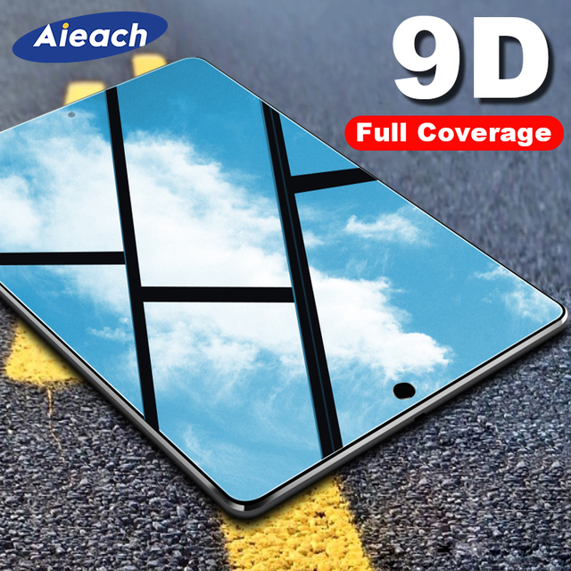 9D 湾曲したフルカバースクリーンプロテクター ipad のミニ 5 4 2019 空気 3 2 1 強化ガラス iPad プロ 11 10.5 9.7 2017 2018