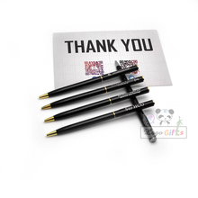 Unique gifts for business/school/restaurant chain logo metal pen custom my name free