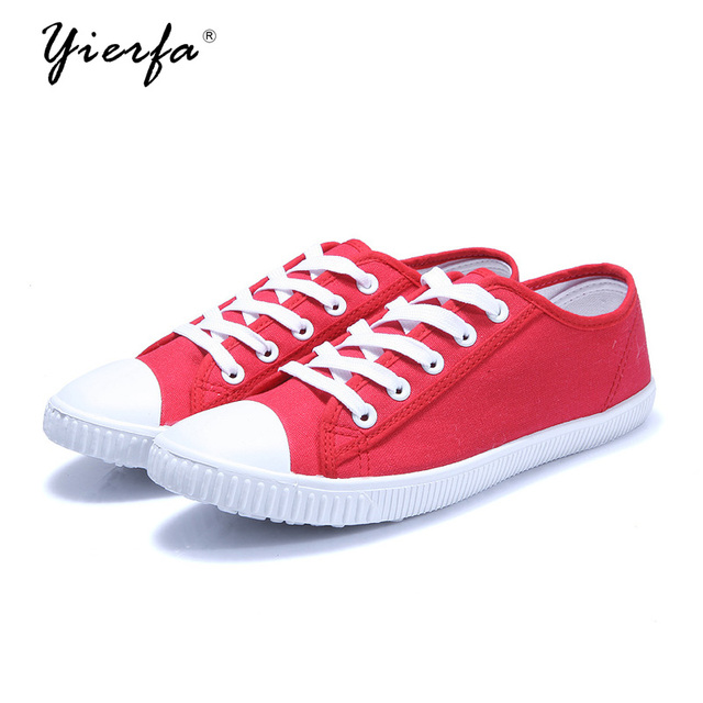 e5c69a3613a208 Women canvas shoes new female Korean version of the solid color low to help  fashion lace student shoes