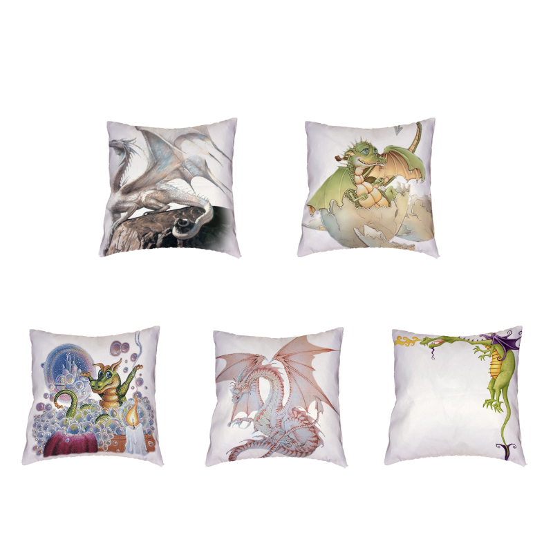 Mysterious Dragon Cushion Cover Polyester Peach Rose Bubble Baby Birthday Gift Family Living Room Sofa Decorate Throw Pillowcase
