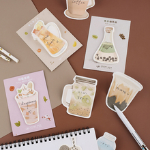 лучшая цена 1PC Kawaii Cute Fruit Tea Milk Sticker Bookmark Marker Memo Pad Flags Sticky Note Stationery School Supplies Papeleria sl1675