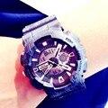 Мужчины Военные Спортивные Часы Открытый Цифровые часы Камуфляж GMT Шок Наручные Часы Санда Мужская Мода Кварцевые часы reloj hombre