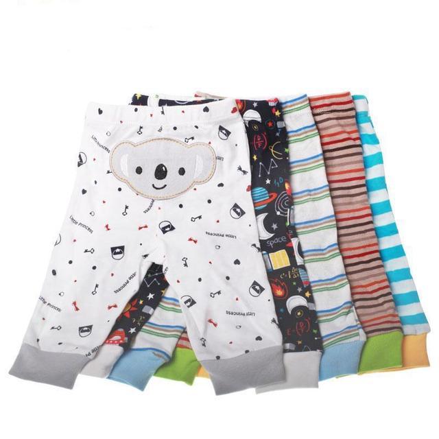 Pantalones de los pp del bebé pantalones desgaste del cabrito 5 unidades mucho busha 2017 modelo caliente para el Otoño/Primavera envío de la gota del algodón del bebé