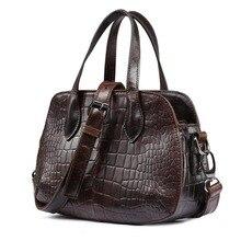 2016 новое прибытие форма оболочки Крокодил сумка моде ретро дизайн цепи корова leahter мужская натуральная кожа сумки/сумка