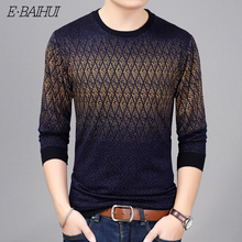 E-BAIHUI New Autumn Winter Fashion Brand Clothing Mens Sweaters O-Neck Slim Fit Men Pullover Cotton Knitted Sweater AQ151