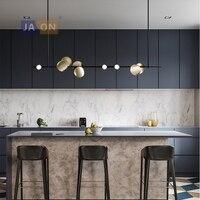 Led postmodern 철 아크릴 블랙 황금 샹들리에 샹들리에 조명 led 램프 led 조명 식사 룸 로비