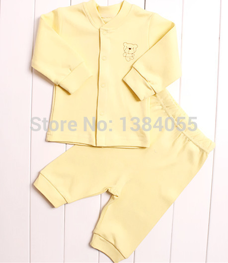 Varejo 2015 outono e inverno estilo de roupas infantis conjuntos de roupas de bebê de Algodão de manga longa 2 pcs roupas de bebê frete grátis