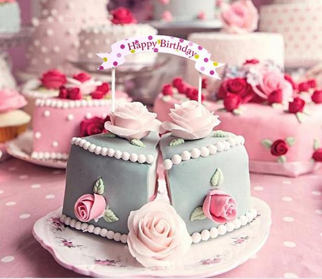 50pcslot Happy Birthday Party Decorations Kids Birthday Cake Topper