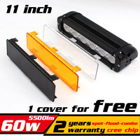 11 Inch 60W 60 Watt Cree LED Work Light Bar 4x4 Truck Tractor Offroad Fog Light