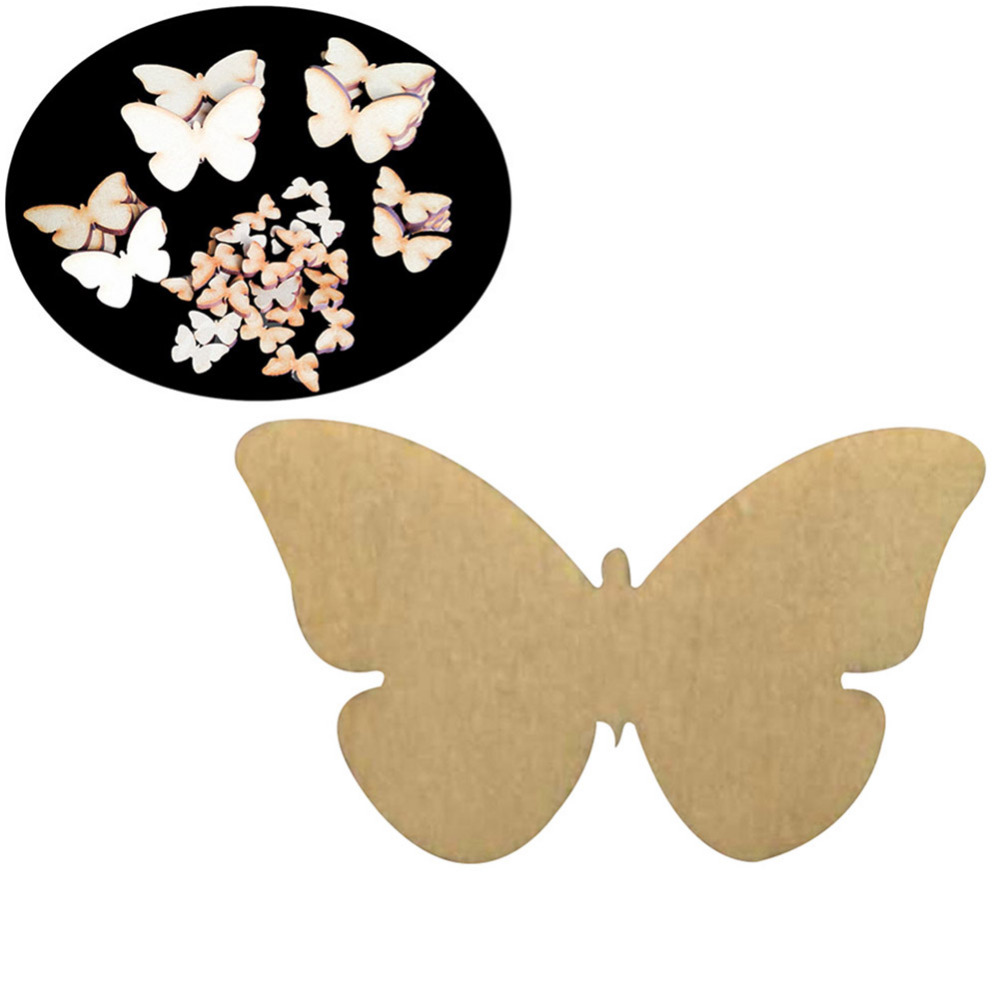 Painted wooden shapes for crafts - Aliexpress Com Buy 50pcs Laser Cut Wood Butterfly 2cm 3cm 4cm 5cm 6cm Diy Butterfly Wooden Papillon 3mm Wooden Butterflies For Home Decorations From