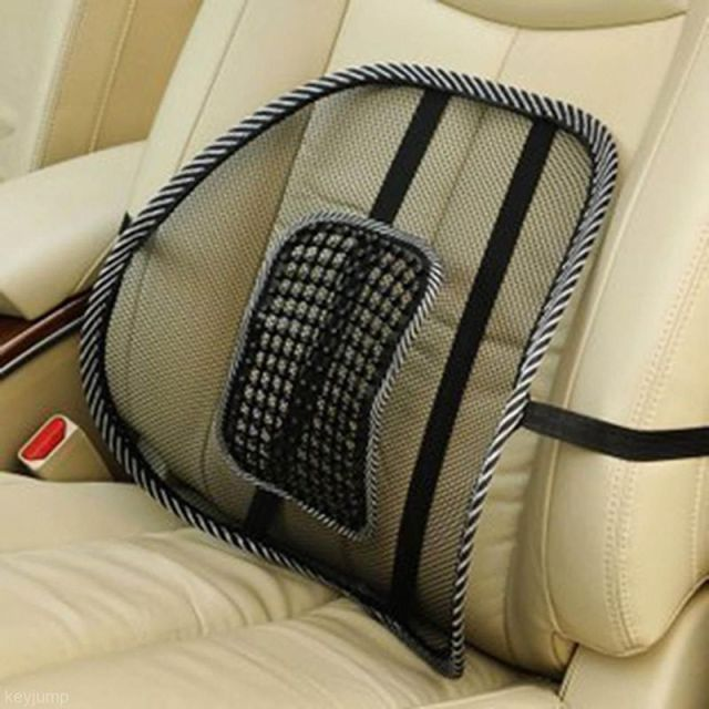 Hot Sale Comfortable Mesh Chair Relief Lumbar Back Pain Support Car Cushion Office Seat Chair Black Lumbar Cushion