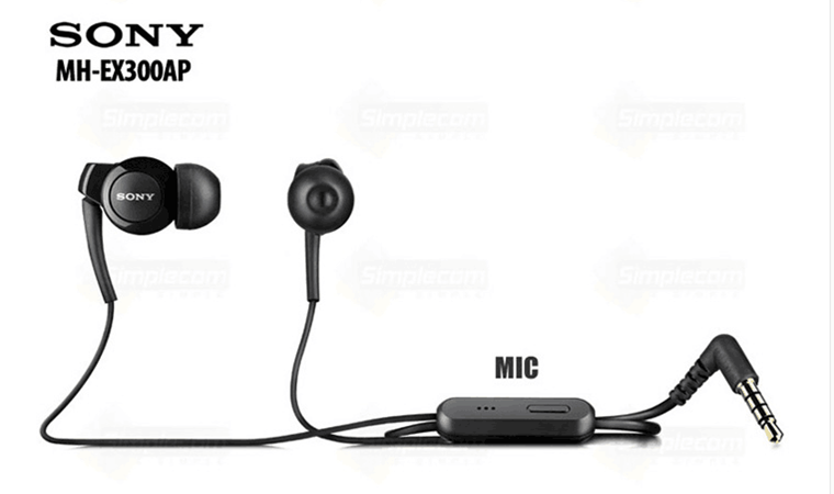 Original <font><b>sony</b></font> MH-EX300AP In Ear Stereophone BASS xperia Series Earphone for <font><b>Sony</b></font> Z 1 2 <font><b>3</b></font> LT MT ST21i 26i 28i 29i J X Z C Young image