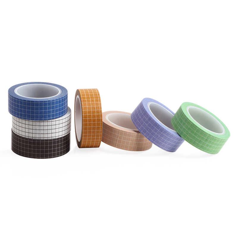 Blanco y negro de cinta de Washi japonés papel DIY planificador cinta de enmascarar cintas adhesivas pegatinas decorativa de papelería cintas 10 M