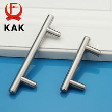 "KAK 4″ ~ 24"" Stainless Steel Handles Diameter 10mm Kitchen Door Cabinet T Bar Straight Handle Pull Knobs Furniture Hardware"