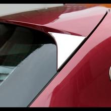 For Honda Vezel HR-V HRV 2014-2018 Chrome Rear Trunk Window Spoiler Cover Pillar Post Trim Molding Garnish Car Styling sticker 1 pair rear trunk plate trim cover for infiniti q50 2014 17 s real carbon fiber rear car styling sticker trunk wing trim covers