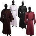 Homens adultos Ritual Pagão Wicca Robe Medieval Batina do Clero Com Cinto Robe Manto Cosplay Traje