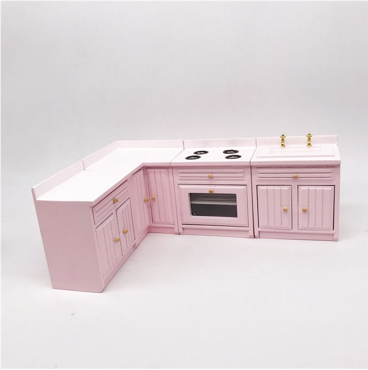 1//12 Dolls House Miniature Furniture Kitchen Cabinet Cupboard Cooking Bench