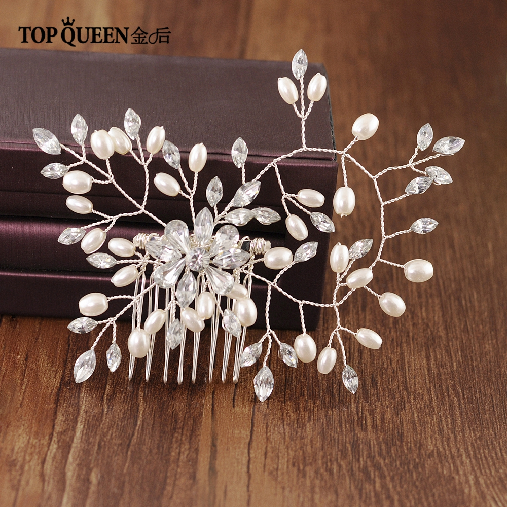 TOPQUEEN HP171 Elegant Bridal Headwear Hair Vine Rhinestone Wedding Hair Comb Hair Jewelry Wedding Accessory Fast Shipping