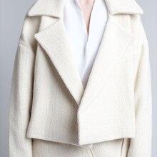 AEL, Полосатое короткое пальто на шнуровке, женское, толстый, свободный пояс, зубчатый воротник, длинный рукав, куртка, высокое качество, модная, OL, осень