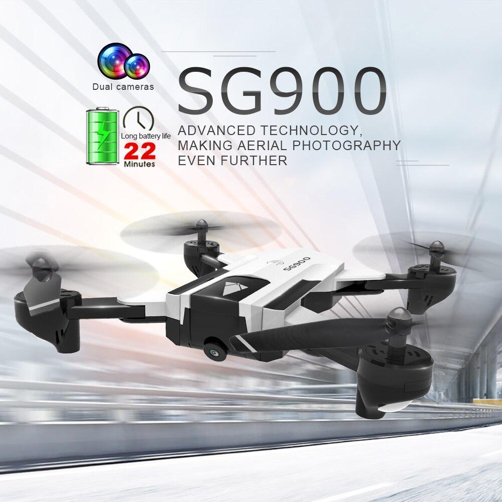 все цены на SG900 RC Drone with Dual 2mp 720P HD Camera Quadcopter Foldable Gesture Control Drone, long flight time PK SG700 SG900S Drone онлайн