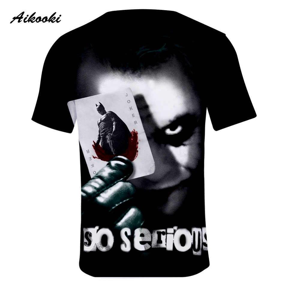 Джокер женские/мужские 3D футболки Джокер с коротким рукавом 3D принт футболка Летняя мода Популярные топы футболки мужские хлопковые футболки