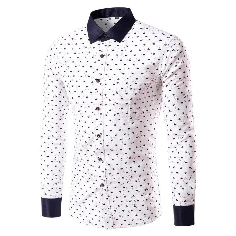 talla 40 cb5fc 1a2b2 R$ 69.5 25% de desconto|M 4 xlmens havaiano clothing camisas dos homens  camisa de vestido da marca de moda primavera camisa dos homens de lazer da  ...