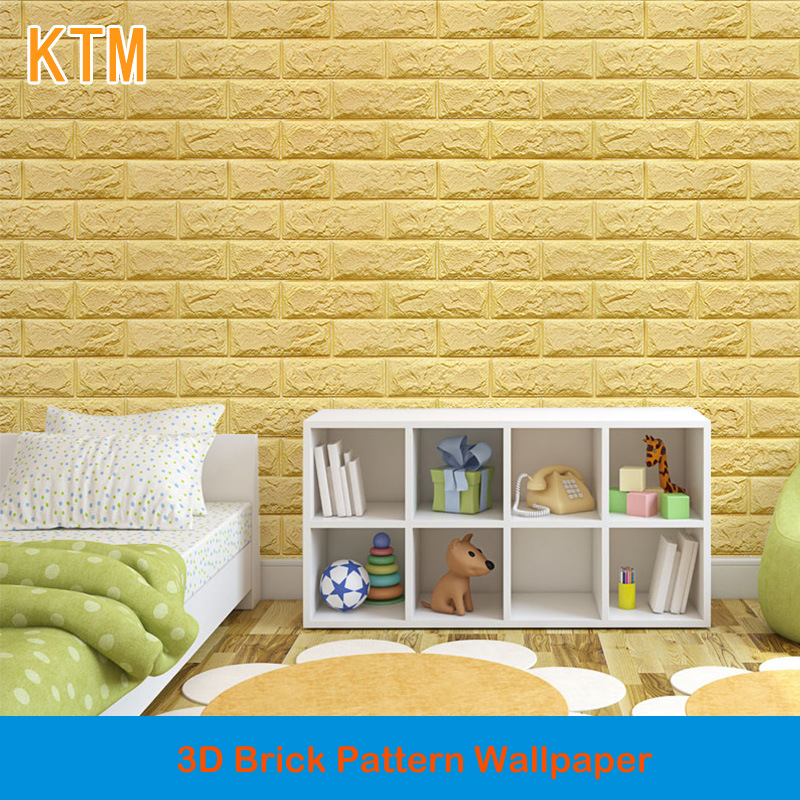 Self-adhesive Creative Wall Brick Pattern Wallpaper 3d Wall Stickers Living Room Bedroom Decorative 3d Floor Tiles 3d flooring