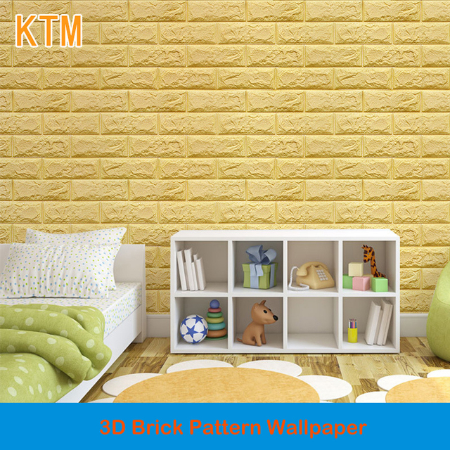 Self adhesive Creative Wall Brick Pattern Wallpaper 3d Wall Stickers ...