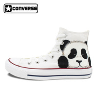 Women Men Shoes Panda Original Design Converse All Star Hand Painted Canvas Shoes Woman Man Sneakers Boys Girls Christmas Gifts