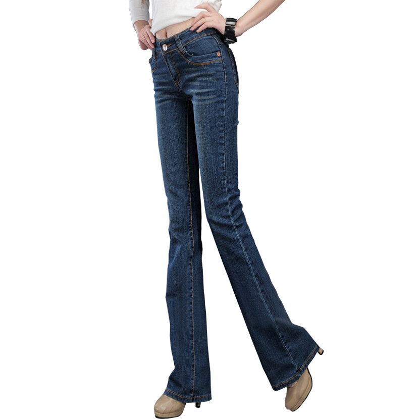 Free shipping New casual fashion trousers stretch jeans female thin large size wide leg commuter denim pants women Jeans hot new large size jeans fashion loose jeans hip hop casual jeans wide leg jeans
