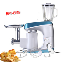 3 Leves Multifunctional 6L Stainless Steel Electric Stand Mixer,Food Mixer, 1200W 220V