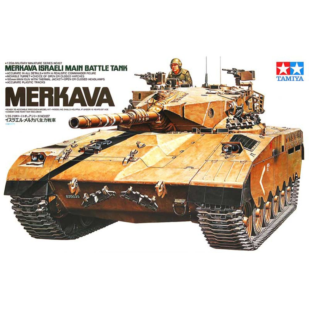 OHS Tamiya 35127 1/35 Merkava Israeli Main Battle Tank Military Assembly AFV Model Building Kits oh ohs tamiya 35326 1 35 u s main battle tank m1a2 sep abrams tusk ii military assembly afv model building kits
