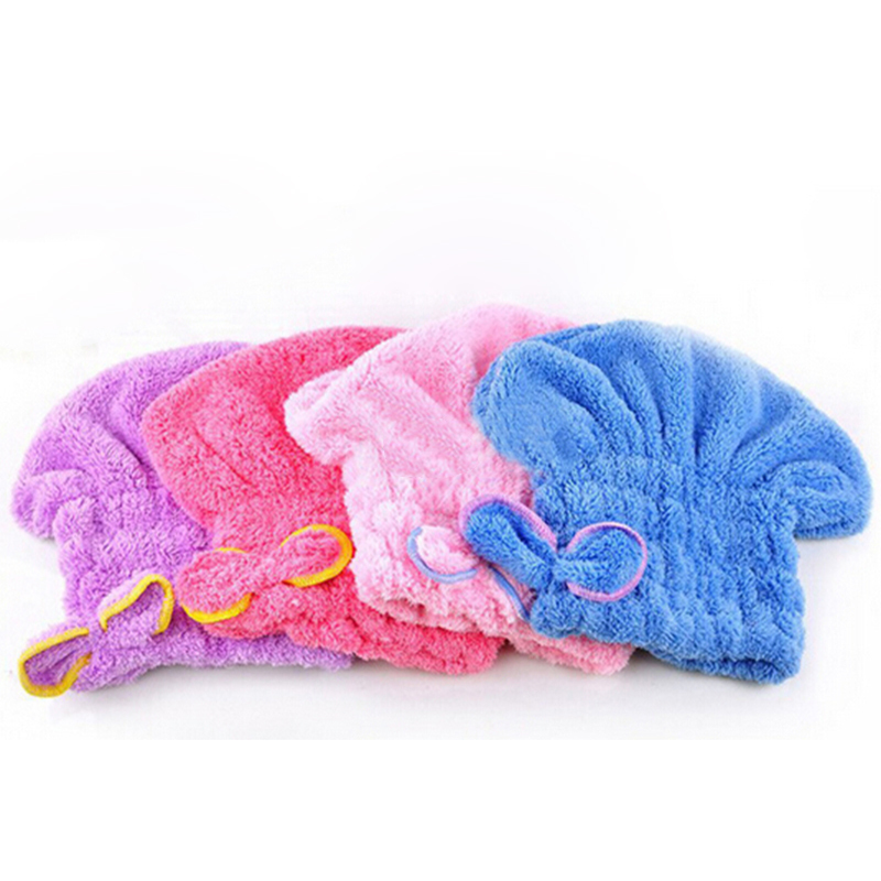 1PCS Beauty Shower Bath Microfiber Fabric Cap Bathing Quick Dry Hair Drying Hat Cap Bathing Accessories