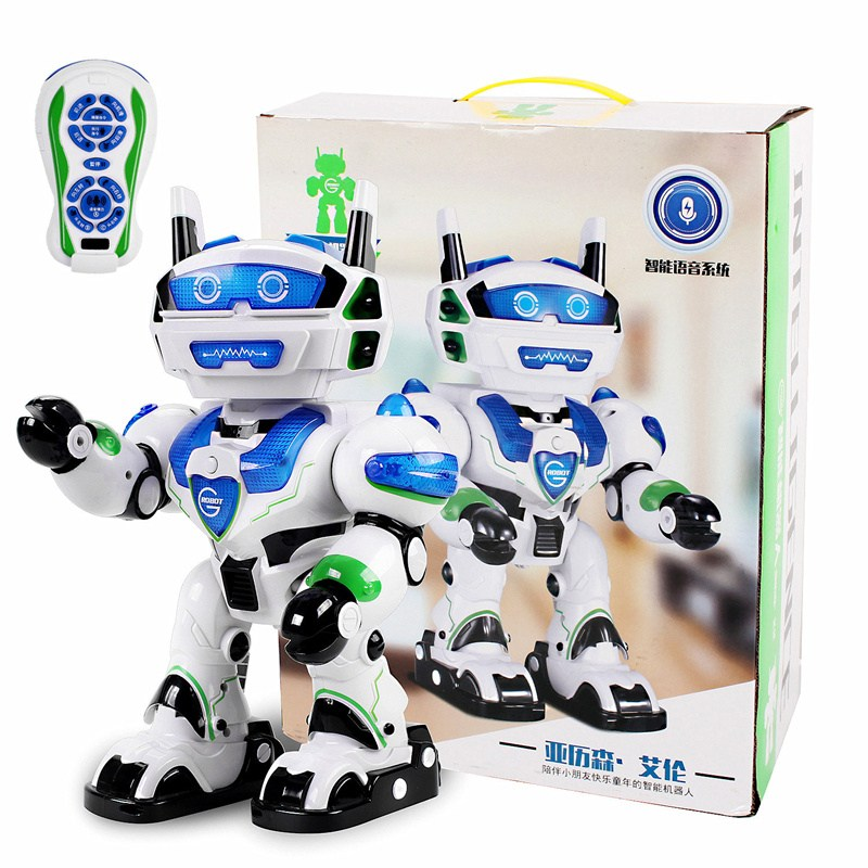 Electric Intelligent Dancing Singing Voice Interaction RC Robot Remote Control Toys Kids Children Gifts Present RC Models