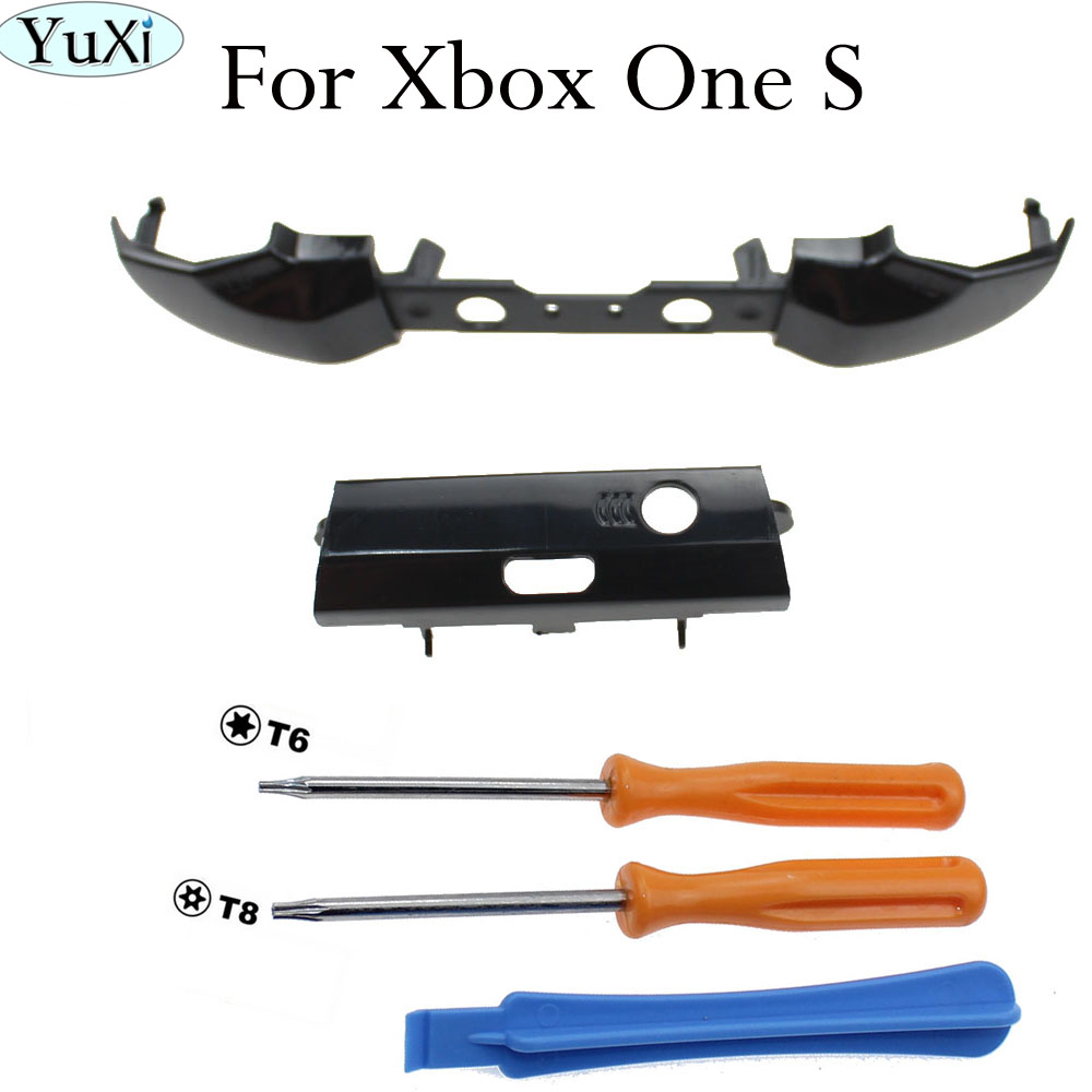 YuXi Black LB RB Button Bumper Replacement Trigger Parts For Xbox One S Controller
