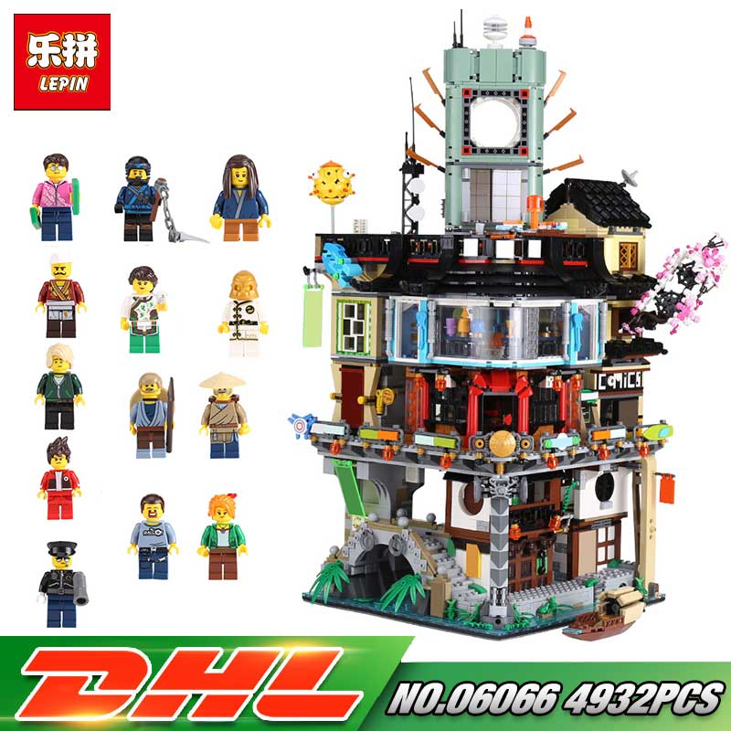 IN Stock Lepin 06066 4932pcs City Series NinjagoINGly Model Building Blocks Kids Toys Bricks Compatible legoing 70620 Kids Toy