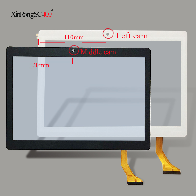 White or black New Touch screen For 10 inch BDF Tablet CH-1096A1 FPC276 V02 Touch panel Digitizer Glass Sensor replacement black new 10 1 inch 10112 0c4826b capacitive touch screen digitizer glass sensor panel 0c4826b mid replacement