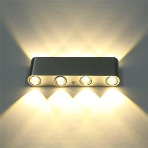Image 4 - الحديث 8 واط حتى أسفل الجدار مصباح أدى الجدار ضوء ac85 265v جودة عالية مكعبة الملونة محل بار مرحاض القراءة الديكور