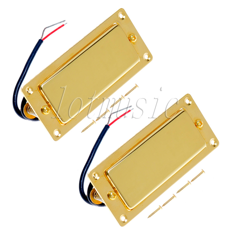 2Pcs Belcat BMH-80 Rohs Golded Humbucker Pickup Ferrite Mini Pickup Guitar Pickup For Electric Guitar Replacement niko 50pcs chrome single coil pickup screws