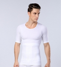 Men Chest Shaper Bodybuilding Slimming Belly Abdomen Tummy Fat Burn Posture Corrector Compression Shirt Corset For