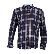 New Men's Slim Fit Long-Sleeve Plaid Shirt Casual Shirts Male Cotton Dress Shirts Tuxedo Shirts L 01