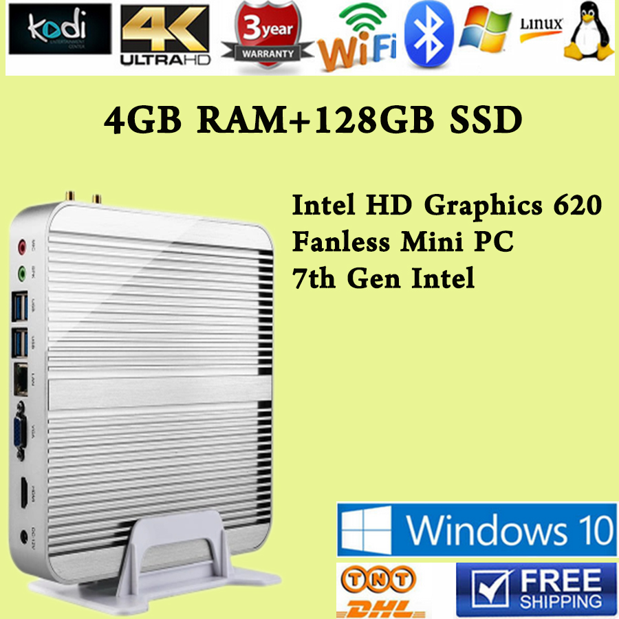 [Séptima generación intel core i5 7200u] 4 gb ram 128 gb ssd win10 mini pc max 3