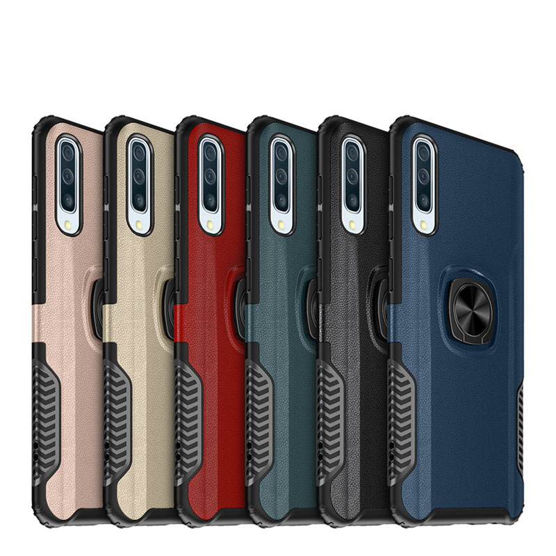 For Samsung Galaxy A50 Case Ring Magnetism Stand Shockproof Car stand Armor back cover For Samsung Galaxy A50 Coque 6 1 Inch in Half wrapped Cases from Cellphones Telecommunications
